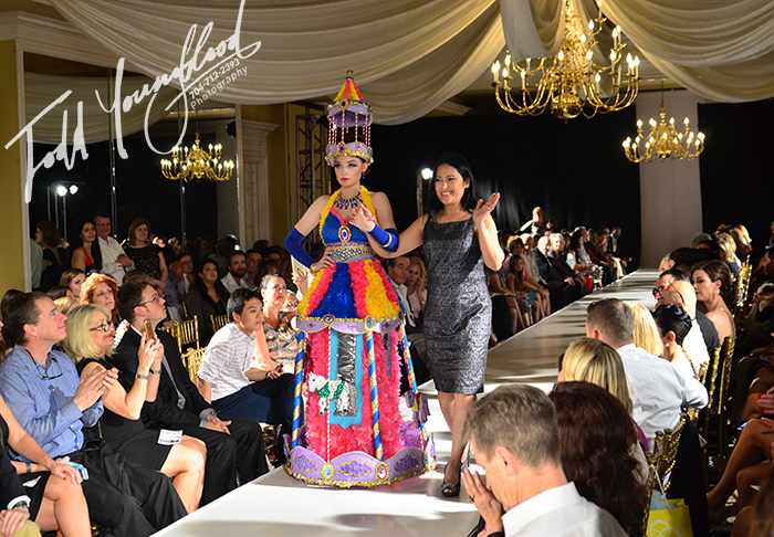Amazing Carousel Recycled Dress